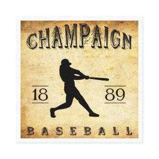 Béisbol 1889 de Illinois del chamán Lienzo Envuelto Para Galerías