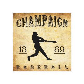 Béisbol 1889 de Illinois del chamán Lona Estirada Galerías
