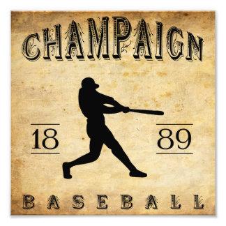 Béisbol 1889 de Illinois del chamán Fotografia