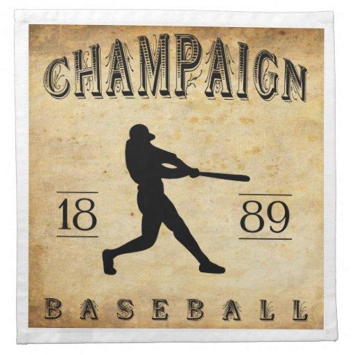 Béisbol 1889 de Illinois del chamán Servilletas De Papel