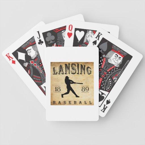 Béisbol 1889 de Lansing Michigan Baraja De Cartas