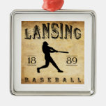 Béisbol 1889 de Lansing Michigan Adornos De Navidad