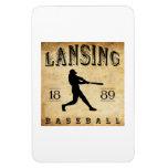 Béisbol 1889 de Lansing Michigan Imanes