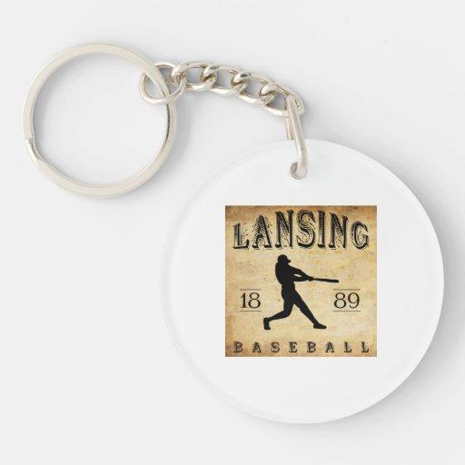 Béisbol 1889 de Lansing Michigan Llavero