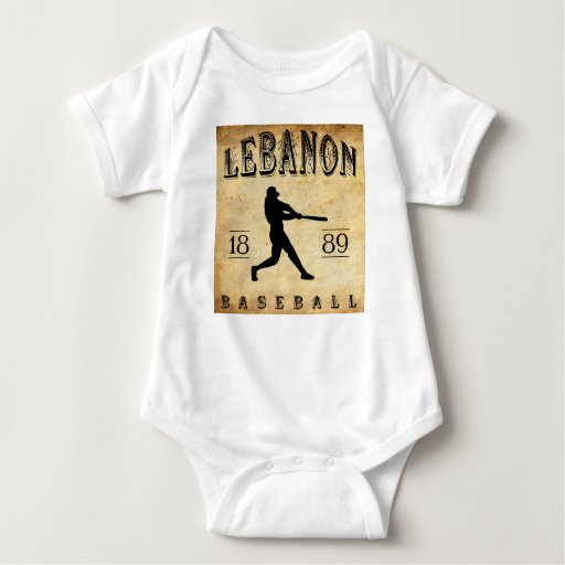 Béisbol 1889 de Líbano Pennsylvania Remera