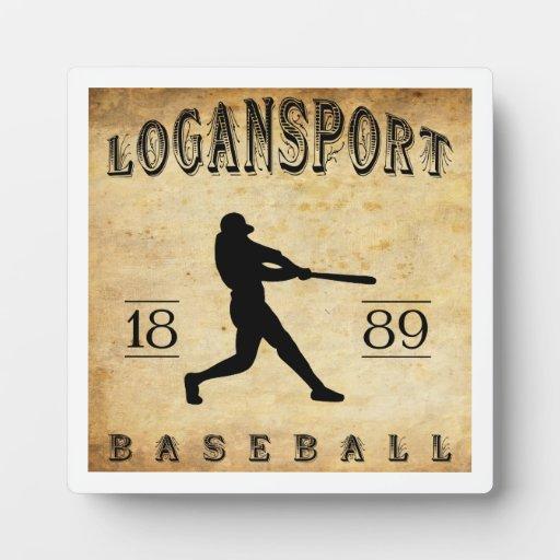 Béisbol 1889 de Logansport Indiana Placas De Madera