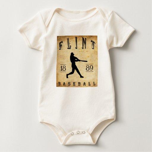 Béisbol 1889 de Michigan del pedernal Body Para Bebé