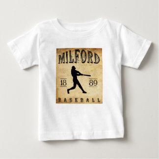 Béisbol 1889 de Milford Delaware T-shirt
