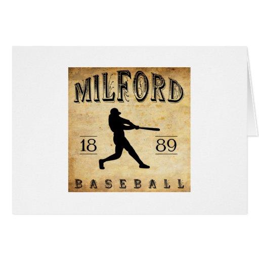 Béisbol 1889 de Milford Delaware Tarjeta Pequeña