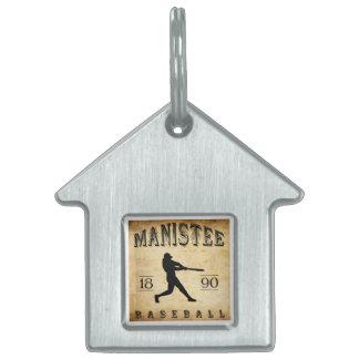 Béisbol 1890 de Manistee Michigan Placa De Mascota