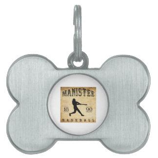 Béisbol 1890 de Manistee Michigan Placas Mascota