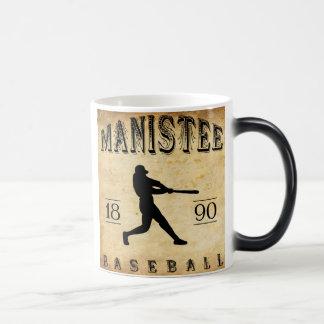 Béisbol 1890 de Manistee Michigan Tazas De Café