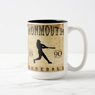 Béisbol 1890 de Monmouth Illinois Taza De Dos Tonos