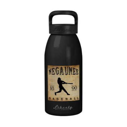 Béisbol 1890 de Negaunee Michigan Botella De Agua Reutilizable