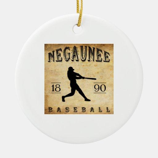 Béisbol 1890 de Negaunee Michigan Ornamento De Navidad