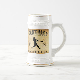 Béisbol 1891 de Cartago Missouri Jarra De Cerveza