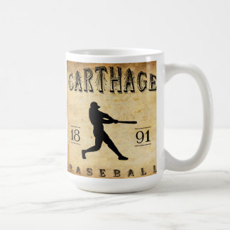 Béisbol 1891 de Cartago Missouri Taza De Café