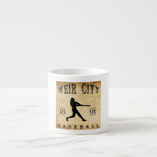 Béisbol 1891 de Kansas de la ciudad del vertedero Tazita Espresso