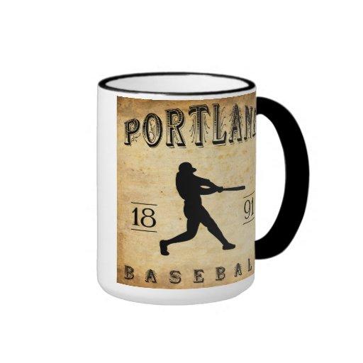 Béisbol 1891 de Portland Connecticut Taza