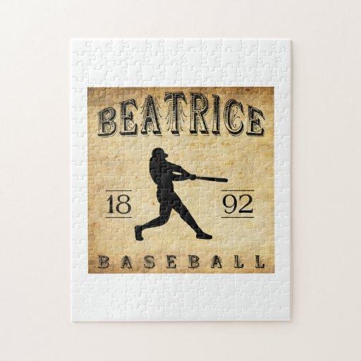 Béisbol 1892 de Beatriz Nebraska Puzzles Con Fotos