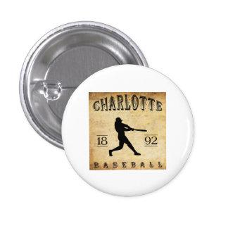 Béisbol 1892 de Charlotte Carolina del Norte Pin