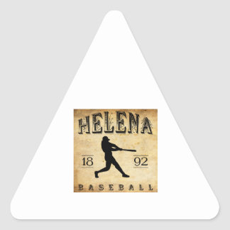Béisbol 1892 de Helena Montana Pegatina Triangular