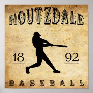 Béisbol 1892 de Houtzdale Pennsylvania Posters