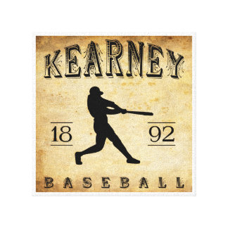 Béisbol 1892 de Kearney Nebraska Impresiones En Lienzo Estiradas