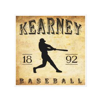 Béisbol 1892 de Kearney Nebraska Lienzo Envuelto Para Galerias