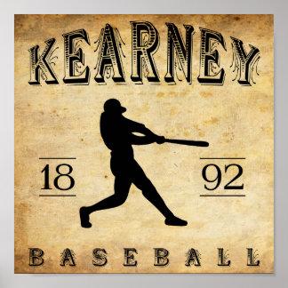 Béisbol 1892 de Kearney Nebraska Impresiones
