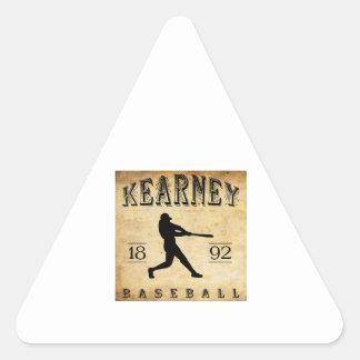 Béisbol 1892 de Kearney Nebraska Calcomanías Trianguladas Personalizadas