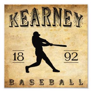 Béisbol 1892 de Kearney Nebraska Impresión Fotográfica