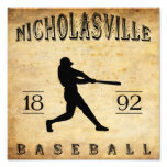 Béisbol 1892 de Nicholasville Kentucky Impresion Fotografica