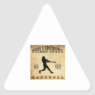 Béisbol 1892 de Phillipsburg Missouri Pegatina Triangular