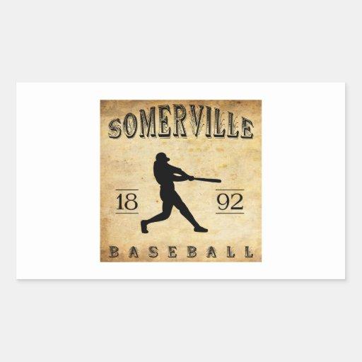 Béisbol 1892 de Somerville New Jersey Rectangular Altavoz