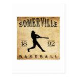 Béisbol 1892 de Somerville New Jersey Postales