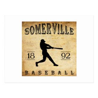 Béisbol 1892 de Somerville New Jersey Tarjetas Postales