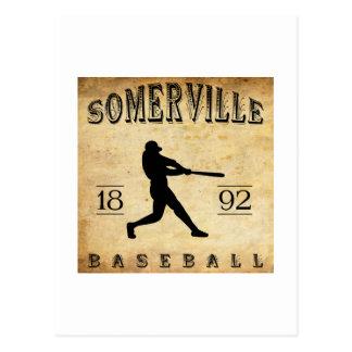 Béisbol 1892 de Somerville New Jersey Tarjeta Postal
