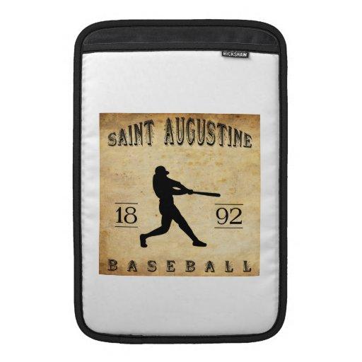 Béisbol 1892 de St Augustine la Florida Fundas Macbook Air