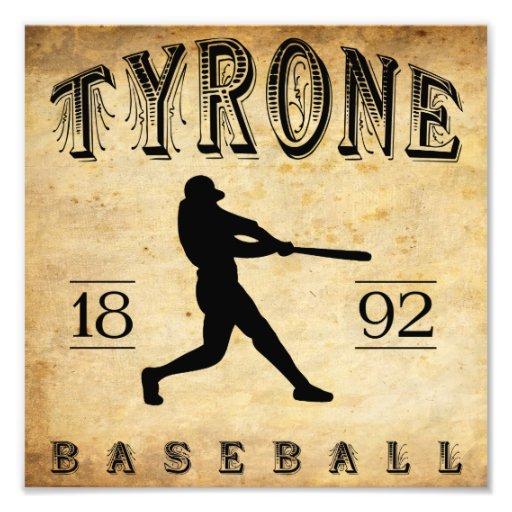 Béisbol 1892 de Tyrone Pennsylvania Arte Fotografico
