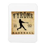 Béisbol 1892 de Tyrone Pennsylvania Imán Flexible