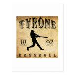 Béisbol 1892 de Tyrone Pennsylvania Tarjetas Postales