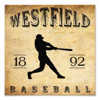 Béisbol 1892 de Westfield New Jersey Impresion Fotografica