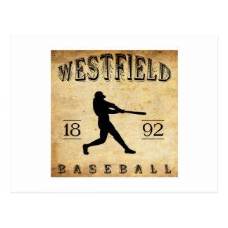 Béisbol 1892 de Westfield New Jersey Tarjetas Postales