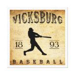 Béisbol 1893 de Vicksburg Mississippi Impresion De Lienzo