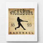 Béisbol 1893 de Vicksburg Mississippi Placas Para Mostrar