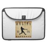 Béisbol 1894 de Moline Illinois Funda Para Macbook Pro