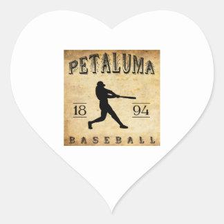 Béisbol 1894 de Petaluma California Pegatina Corazón