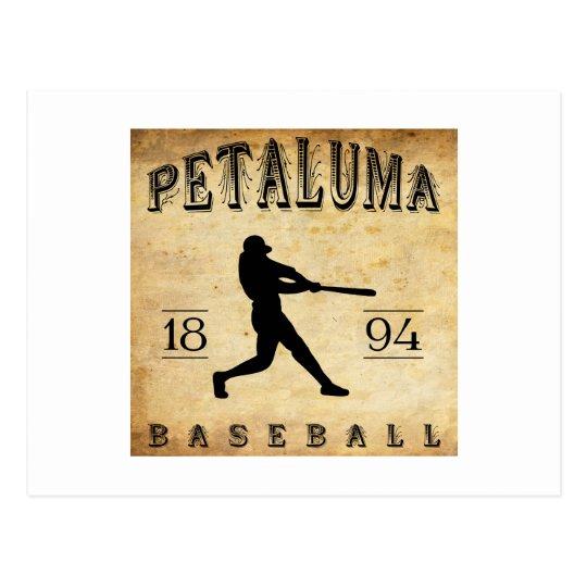 Béisbol 1894 de Petaluma California Tarjeta Postal