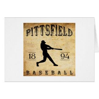 Béisbol 1894 de Pittsfield Nueva York Tarjeta De Felicitación